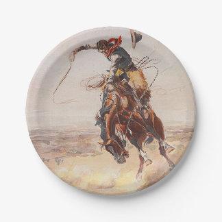Vida del vaquero de la CAMISETA Plato De Papel De 7 Pulgadas