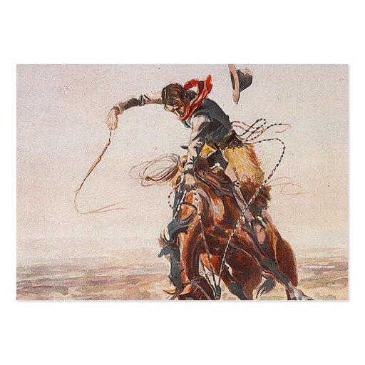 Vida del vaquero de la CAMISETA Tarjetas De Visita Grandes