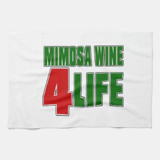 Vida del VINO 4 del MIMOSA Toalla