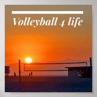 Vida del voleibol 4 póster