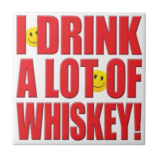 Vida del whisky de la bebida teja cerámica