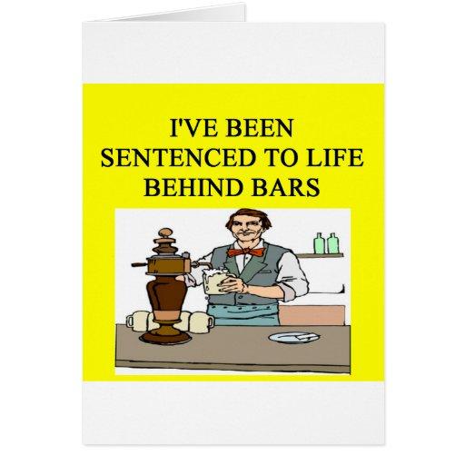 vida detrás de las barras que beben chiste de la c tarjetas