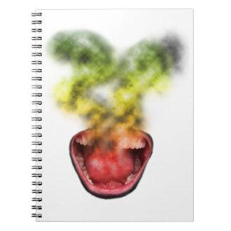 Vida divertida de la mala hierba del humo note book