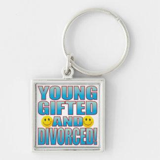 Vida divorciada jóvenes B Llavero Cuadrado Plateado