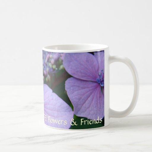 ¡VIDA DULCE! Flores y Hydrangea de la taza de café