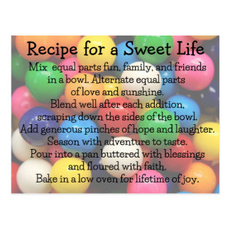 Vida dulce Gumballs colorido Postal