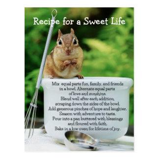 Vida dulce poco Chipmunk Tarjeta Postal
