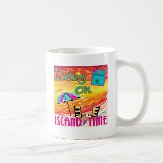Vida el tiempo de la isla taza de café