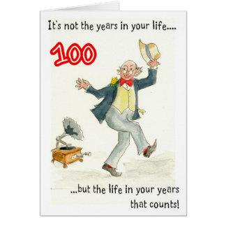 """""""Vida en 100a tarjeta de cumpleaños de sus años"""""""