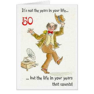 """""""Vida en 50.a tarjeta de cumpleaños de sus años"""""""