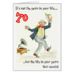 """""""Vida en 70.a tarjeta de cumpleaños de sus años"""""""