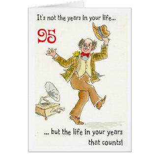 """""""Vida en 95.a tarjeta de cumpleaños de sus años"""""""