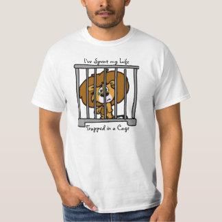 Vida en camiseta de la jaula remera