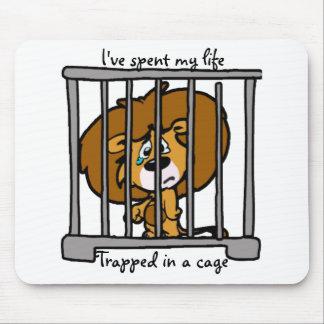 Vida en cojín de ratón de la jaula mousepad