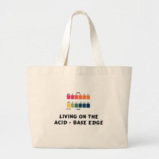 Vida en el ácido/el borde bajo bolsa tela grande