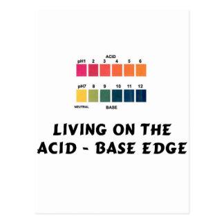 Vida en el ácido/el borde bajo tarjetas postales