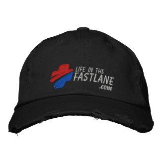 Vida en el gorra del carril rápido (oscuro) gorra bordada