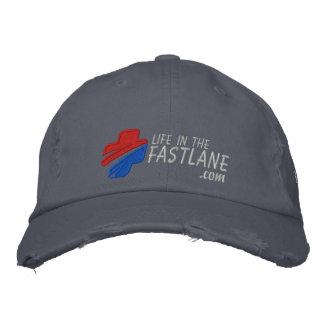 Vida en el gorra del carril rápido (oscuro) gorra de béisbol