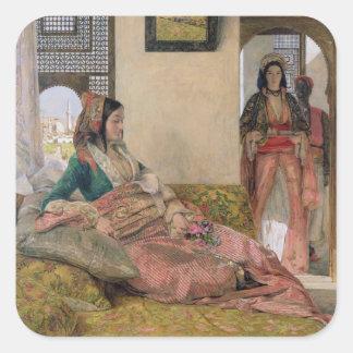 Vida en el harem, El Cairo Pegatina Cuadrada