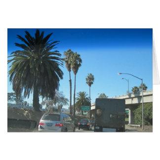 Vida en la autopista sin peaje de Los Ángeles Tarjeta De Felicitación