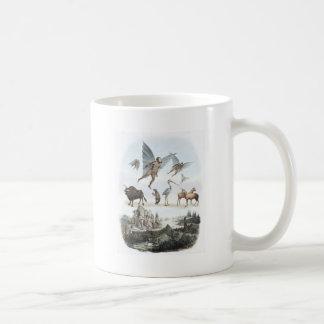 Vida en la luna taza de café