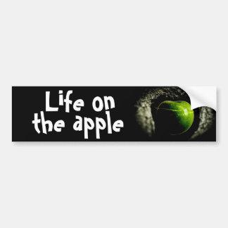 vida en la manzana pegatina para auto
