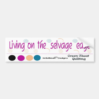 Vida en la pegatina para el parachoques del borde etiqueta de parachoque