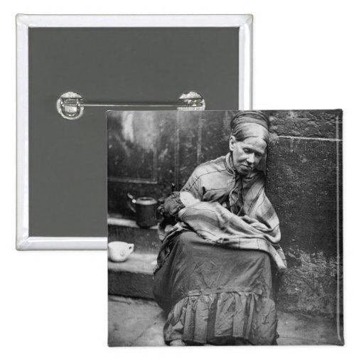 Vida en las calles Londres - foto 1877 de las corr Pins