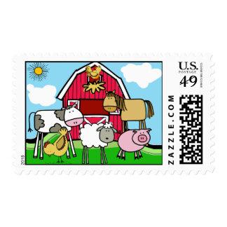 Vida en los sellos de la granja