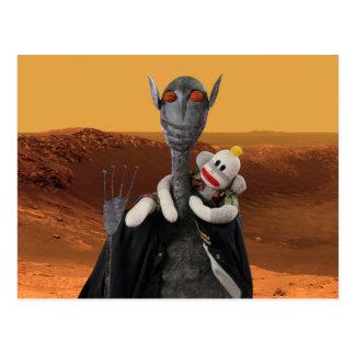 Vida en Marte Postales