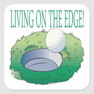 Vida en The Edge Pegatina Cuadrada