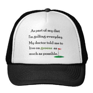 Vida en verdes gorras de camionero