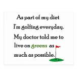 Vida en verdes postal