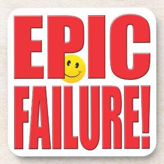 Vida épica del fracaso posavasos