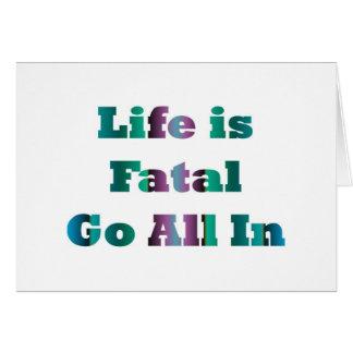 Vida fatal tarjeta de felicitación