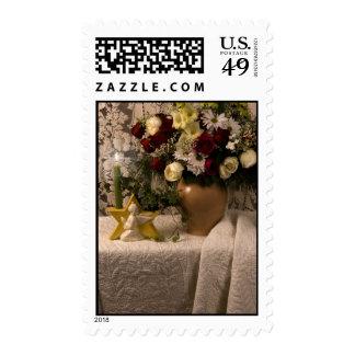 Vida floral del florero de 2162 ángeles aún en sellos