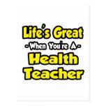 Vida grande cuando usted es profesor de la salud postal
