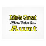 Vida grande cuando usted es una tía anuncio