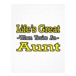 Vida grande cuando usted es una tía membrete a diseño