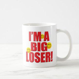 Vida grande del perdedor tazas de café
