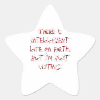 Vida inteligente pegatina en forma de estrella