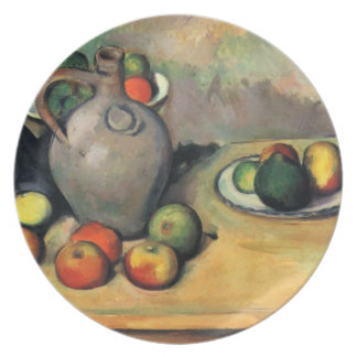 Vida, jarro y fruta de Paul todavía Cezanne- en un Plato De Comida