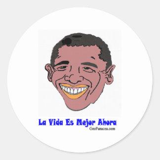 Vida latinoamericana mejor ahora pegatinas redondas