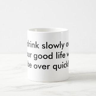 vida lenta = buena de la consumición taza mágica