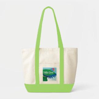 """Vida Livre"" Book Cover Art Tote Bags"