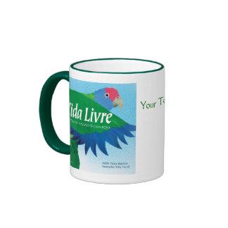 """""""Vida Livre"""" Book Cover Art Ringer Mug"""