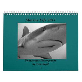 Vida marina 2011 calendarios de pared