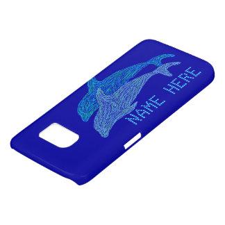 Vida marina acuática azul del arte de los delfínes funda samsung galaxy s7