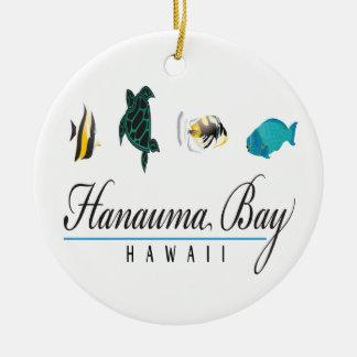 Vida marina de Hawaii de la bahía de Hanauma Adornos De Navidad