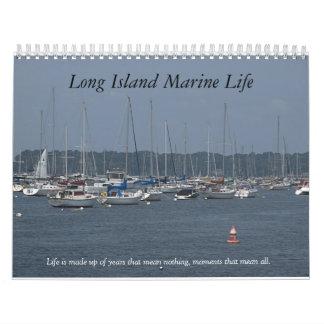 Vida marina de Long Island Calendario De Pared